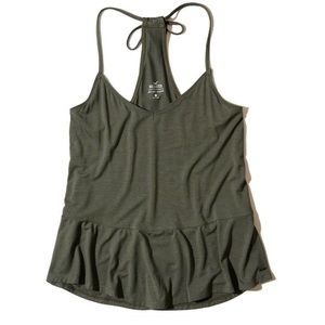 Hollister Must Have Peplum Cami in olive green